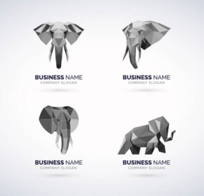Low-Poly Animal Free Logo Templates