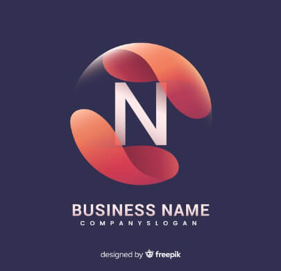 3D Style Free Logo Template