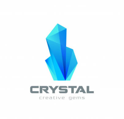 Realistic Crystal Free Logo Templates