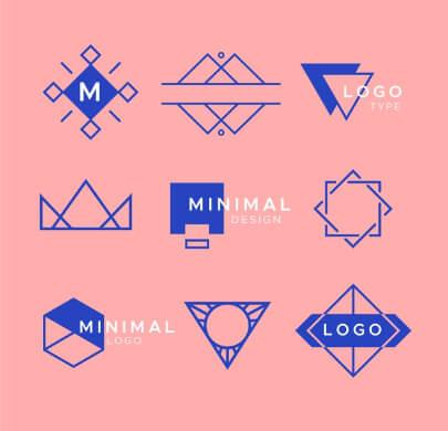 9 Minimalist Monochrome Free Logo Templates