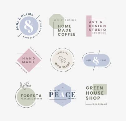 9 Minimalist Free Logo Templates
