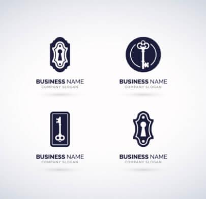 Key Minimal Free Logo Templates