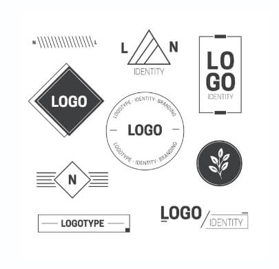 Black and White Minimalist Free Logo Templates
