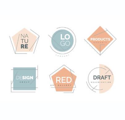 Pastel Colors Minimalist Free Logo Templates