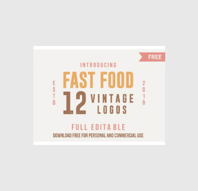 12 Vintage Free Food Logo Templates