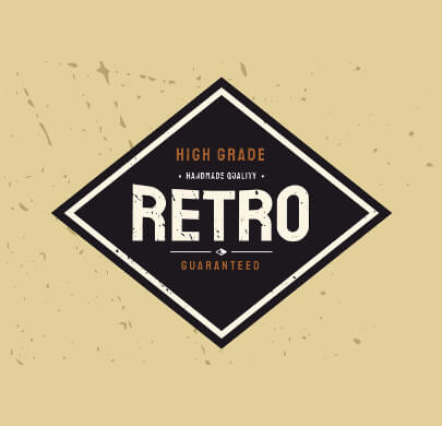 HQ Free Retro Logo Template