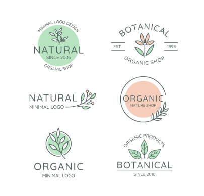 6 Natural Business Free Logo Templates
