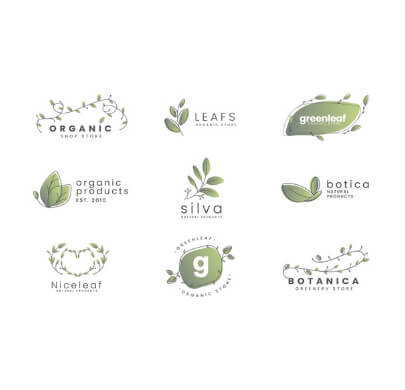 9 Nature Green Free Logo Templates