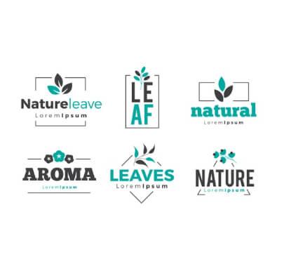 Minimalist Leaves Free Logo Templates