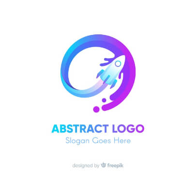 Colorful Rocket Free Logo Template