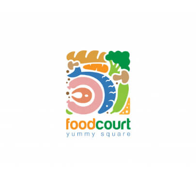 Colorful Food Free Logo Template