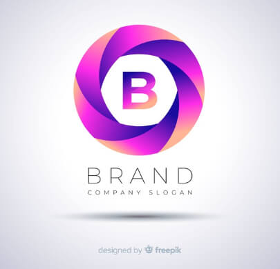 Purple Brand Free Logo Template