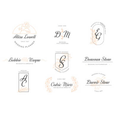 Eleganet Wedding Free Logo Templates