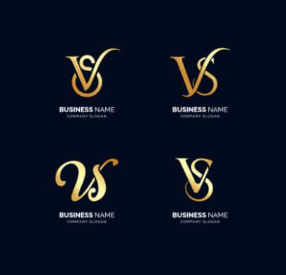 VS Letters Free Logo Templates