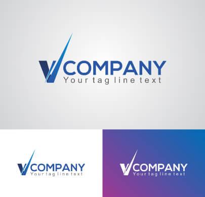 V Letter Free Logo Template