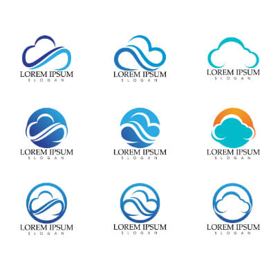 Cloud Shapes Free Logo Templates