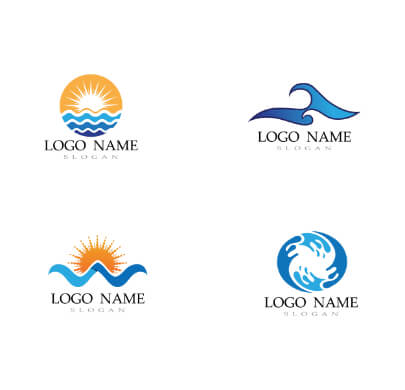 Water and Sun Free Logo Templates