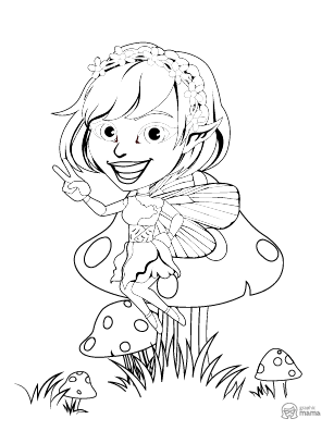 Pretty Fairy Tail Cartoon coloring page free printable Sheet