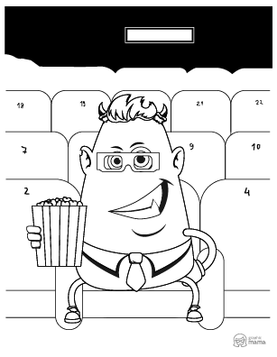Funny Monster Cartoon coloring page free printable Sheet