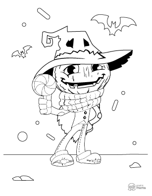 Fun Halloween Cartoon coloring page free printable Sheet