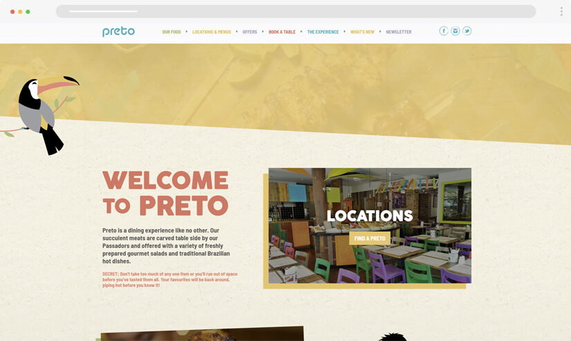 texture and patterns website design idea - example