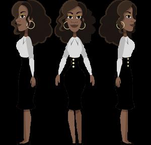 free character animator puppet woman