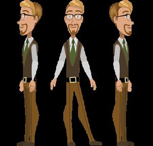 free character animator puppet man