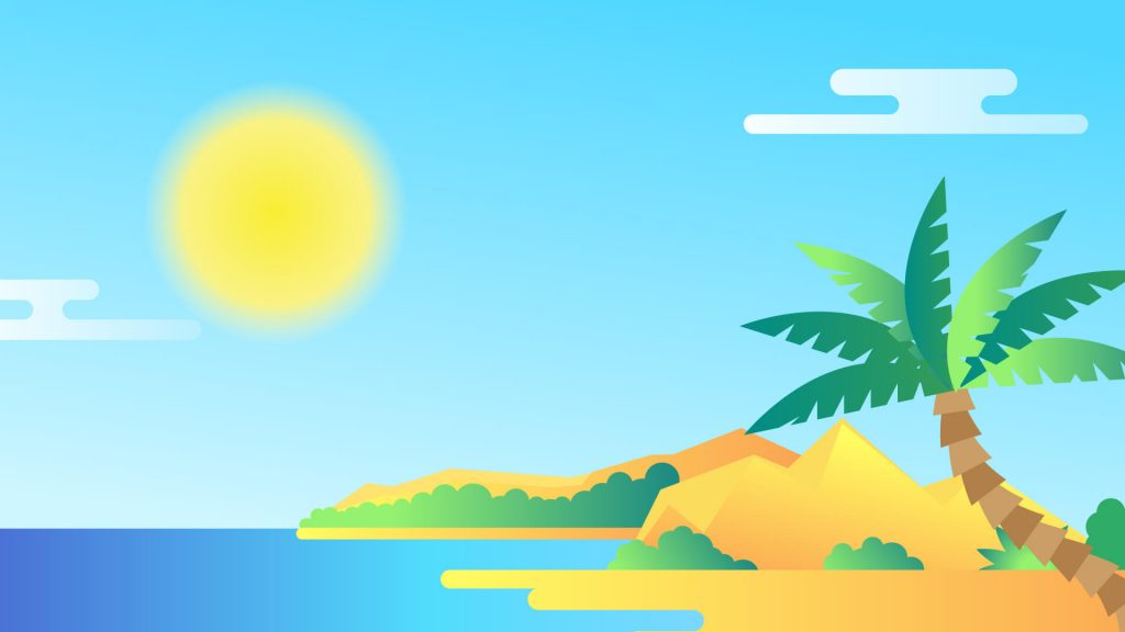 Free Sunny Beach Background for Zoom Meetings