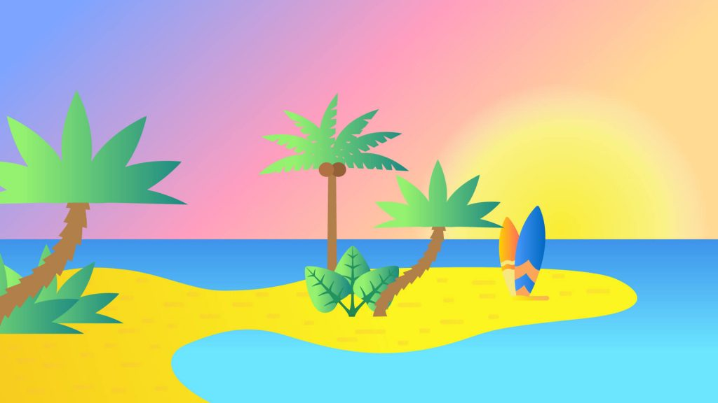 Free Vacation Background for Zoom Meetings