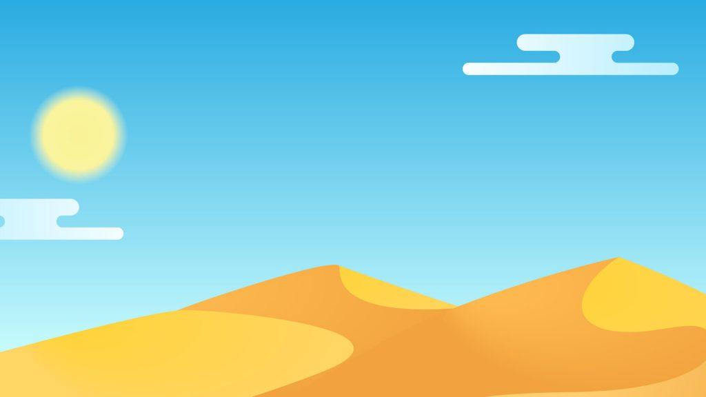 Free Desert Background for Zoom Meetings