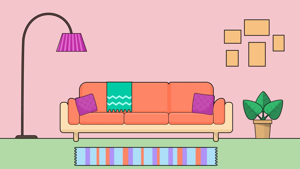 Free Living Room Background for Zoom Meetings