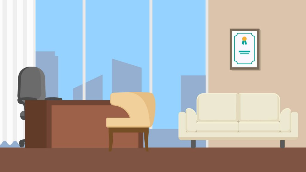 Free Office Background with Desk for Zoom Meetings