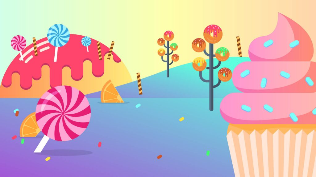 Free Candy Land Background for Zoom Meetings