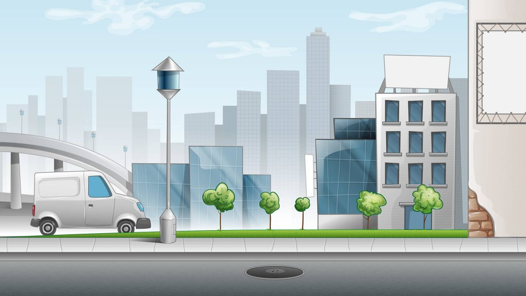 Free City Streed Landscape Background for Zoom Meetings