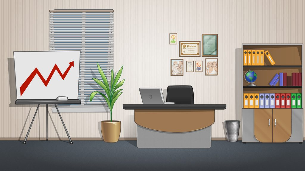 Free Cartoon Office Background for Zoom Meetings