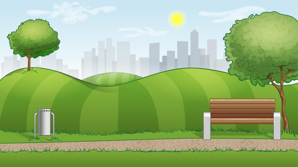 Free City Park Background for Zoom Meetings
