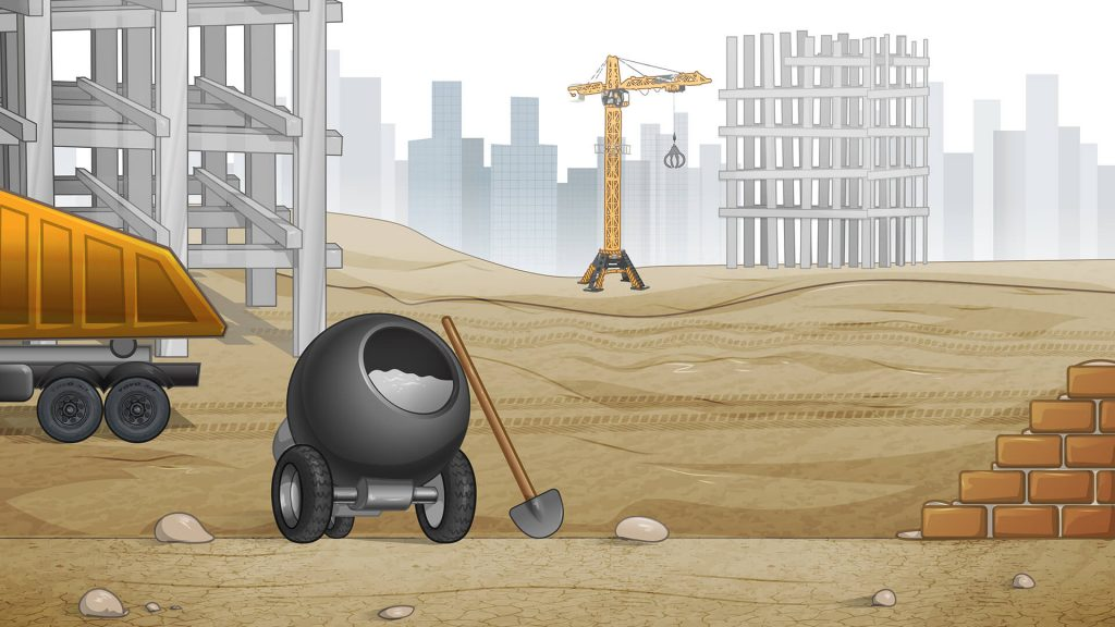 construction background for zoom meetings