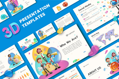 3D PowerPoint Presentation Template