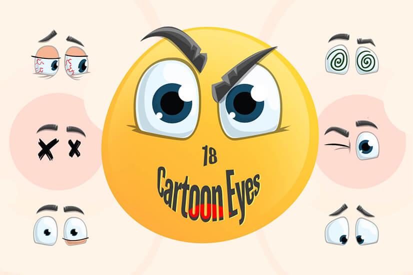 Cartoon Eyes Set for Adobe Character Animator