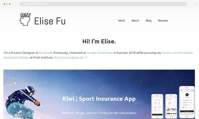 Elisefu UI UX Design Portfolio