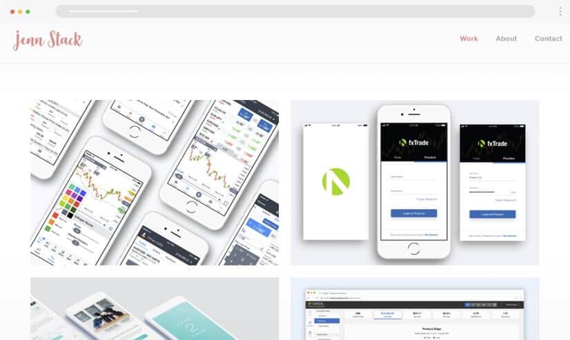 Jennstack UI UX Design Portfolio