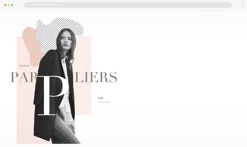 texture and patterns website design idea - example 3