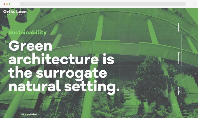 website design idea: Monochrome design - example 2