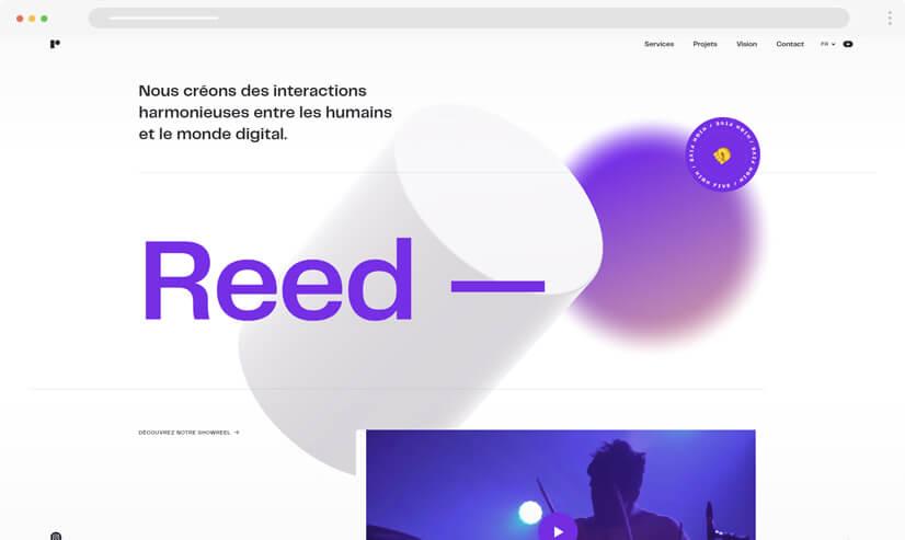 website design idea: Monochrome design - example 3