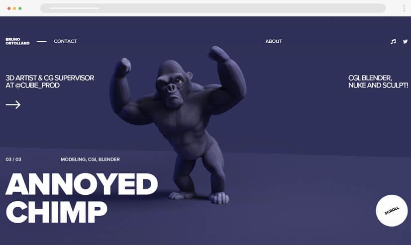 website design idea: Monochrome design - example 4