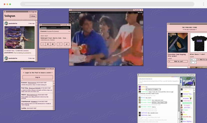 website design idea retro design - example 1