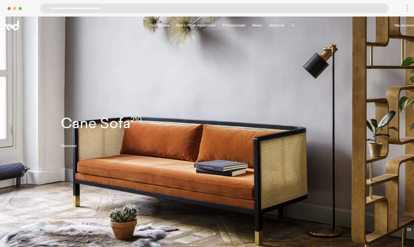 website design idea: big images - example 1