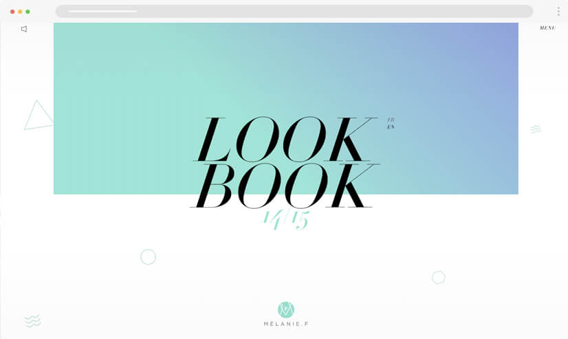 website design idea: gradients in web design - example 1