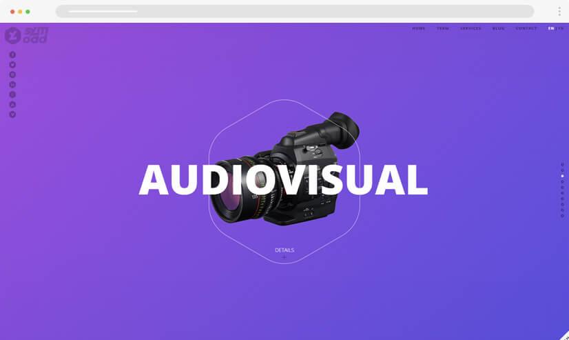 website design idea: gradients in web design - example 2