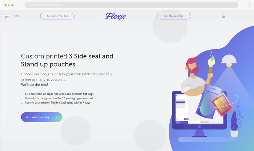 website design idea: gradients in web design - example 3